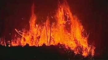 Video : Rare fire tornado sparked by Brazil brush fires