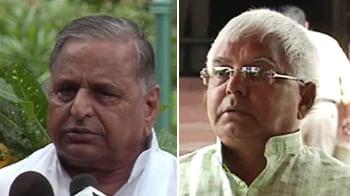 Video : Lalu, Mulayam allege Congress-BJP deal