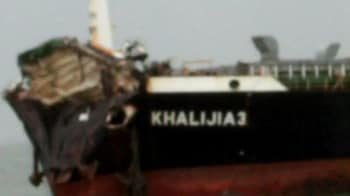 Video : The moments after Mumbai ship collision