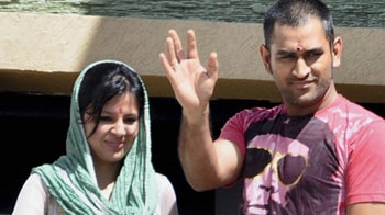 Video : Mr and Mrs Dhoni in Ranchi