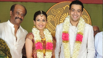 Video : Rajinikanth's daughter gets married