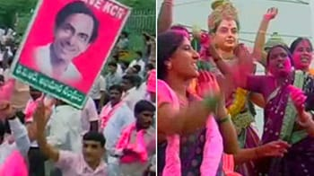 Video : TRS sweeps Telangana polls, thumbs up for KCR