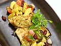 Fish steak with pineapple relish