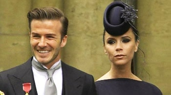 Video : The Beckhams at the royal wedding
