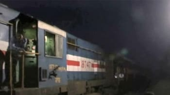 Video : UP: More than 30 killed in train, bus collision