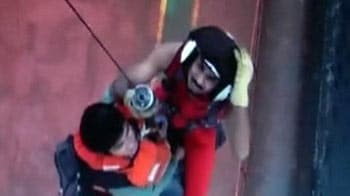 Video : Ship near Mumbai sinks, 30 crew members on board rescued