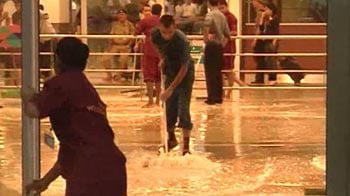 Video : A month's rain in 3 hours for Delhi: T-3 flooded