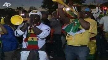 Video : Fans celebrate Ghana's win over Serbia