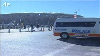 Video : Police tighten security at World Cup stadium