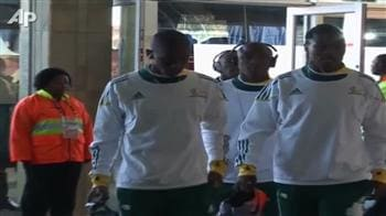 Video : South Africa play France today, fans invoke magic