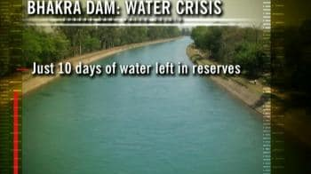 Video : Just 10 days of water left in Bhakra dam