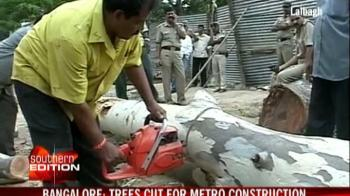 Video : Train vs trees in Bangalore