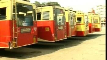 Video : Left protests against fuel hike in Kerala