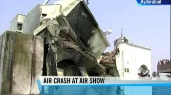 Video : Navy plane crashes during Hyderabad air show