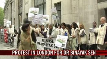 Video : Protest in London for Dr Binayak Sen