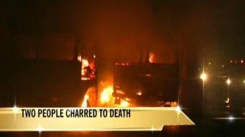 Video : Tanker, truck collide in Pune: 2 dead