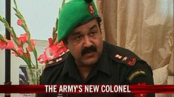 Video : Mohanlal joins Territorial Army