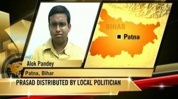 Video : Politician's prasad leaves 100 kids sick, 1 dead