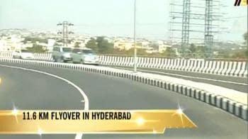 Video : India's longest flyover in Hyderabad