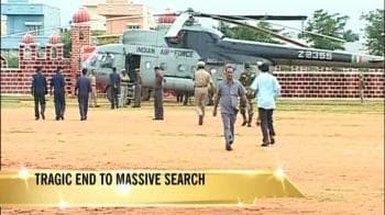 Video : Giant search ends in tragedy