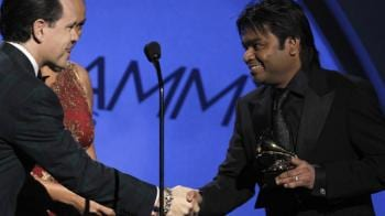 Video : Rahman's double delight at Grammy