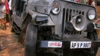 Video : Andhra: Minister's convoy hits auto, 5 dead