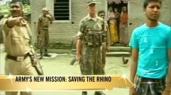 Video : Army protects rhinos in Assam