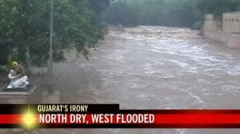 Video : Monsoon paradox: North Gujarat dry, west flooded