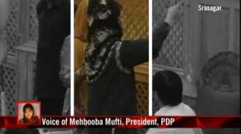Video : Mehbooba marshalled out