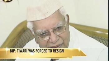 Video : Andhra Pradesh Governor Tiwari quits after alleged sex scandal