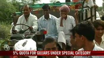Video : Rajasthan approves quota for Gujjars