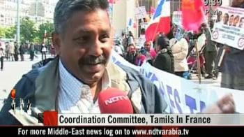 Video : LTTE supporters protest in Paris