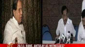 Video : 26/11: Rane, Antulay as witnesses?