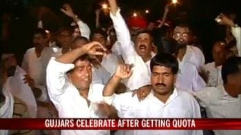 Video : Gujjars thrilled as Rajasthan Governor passes Quota Bill
