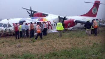 Video : Kingfisher plane skids off runway, all safe