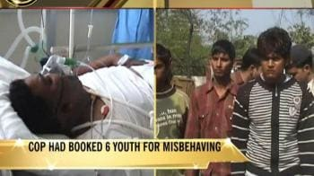 Video : Youth run cop over for revenge in Noida