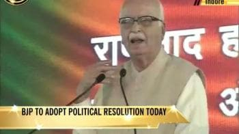 Video : Advani addresses BJP conclave