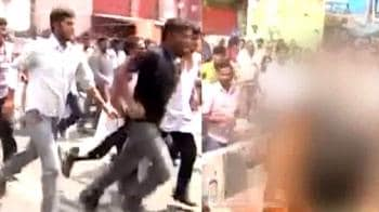 Video : Telangana protest: Student sets himself on fire