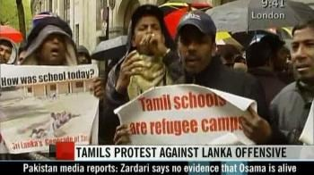 Video : Tamils protest against Lanka offensive