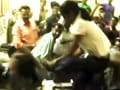 Video : BJP youth workers thrash professor with sandals