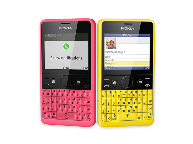 nokia asha 210. Nokia Asha 210 With Dedicated WhatsApp Button Now Up For Pre-orders At Rs. H