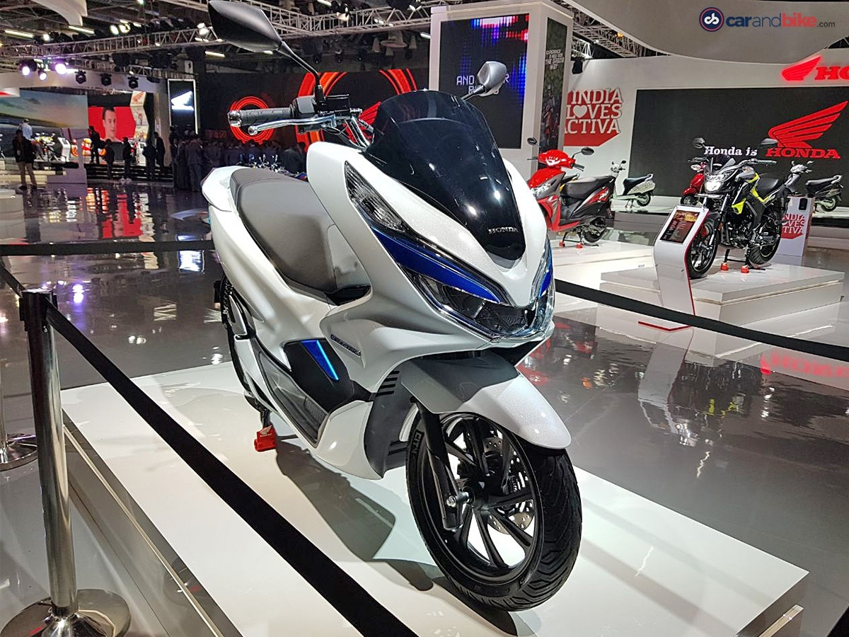 auto expo 2018 honda pcx electric scooter concept. Black Bedroom Furniture Sets. Home Design Ideas