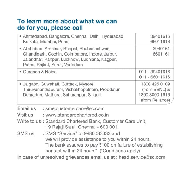 SME banking by Standard Chartered