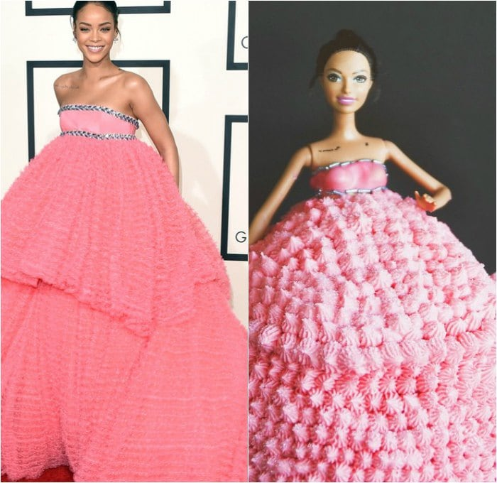 Rihanna's Pink Gown Inspired Bakers