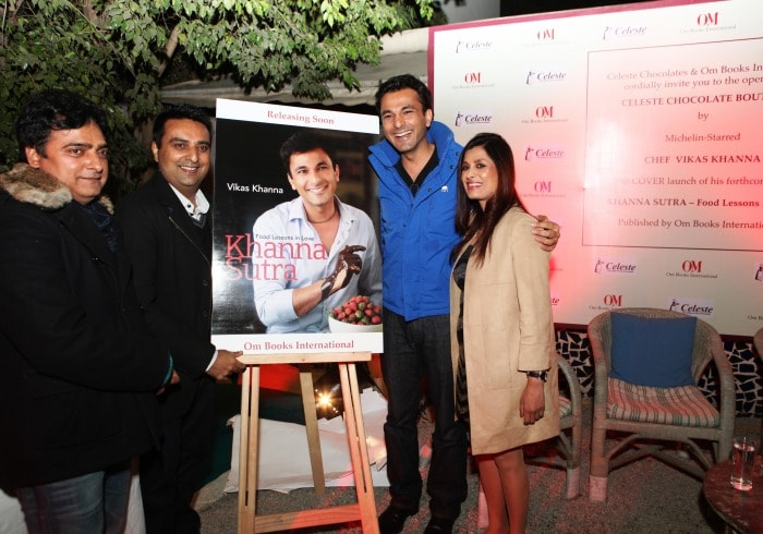 Michelin star Chef Vikas Khanna unveils the cover of his forthcoming book 'Khanna Sutra – Food lessons in love'