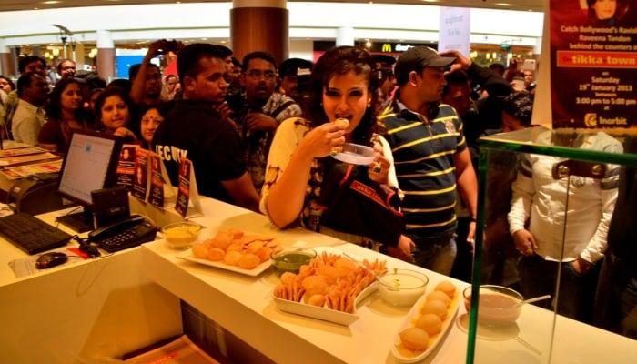 Raveena Tandon inaugurated Tikka Town in Pune