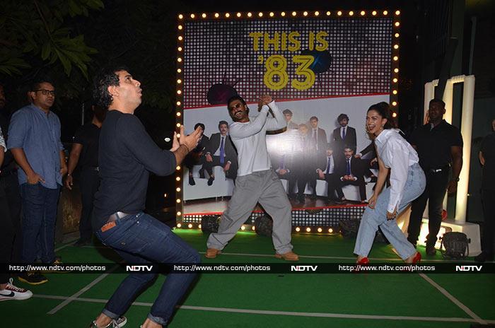 फिल्म '83' के लिए रखी गई पार्टी, मस्ती करते दिखे दीपिका-रणवीर