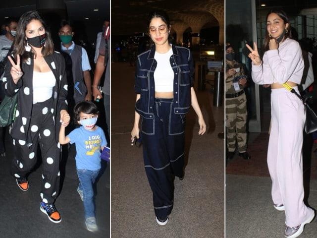 Photo : मुंबई एयरपोर्ट पर सनी लियोन के अलावा नजर आए ये सितारें