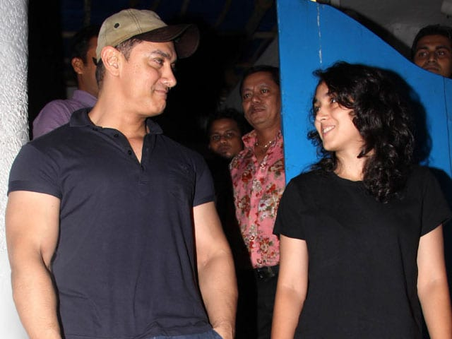 Father's Day Out: Aamir Khan Dines With Daughter Ira