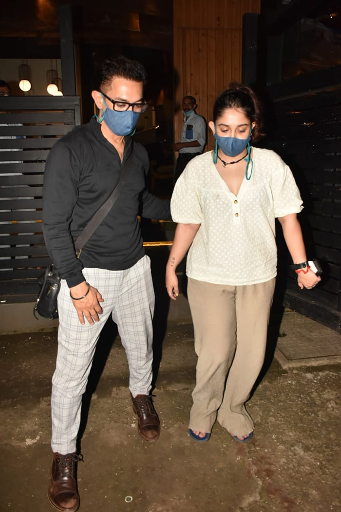 Aamir Khan And Daughter Ira Step Out For Dinner